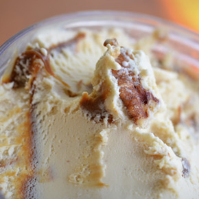 Dulce de Leche Ice Cream With Salted Pecans